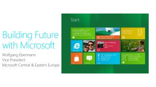 Building Future with Microsoft