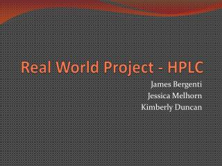 Real World Project - HPLC