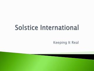 Solstice International