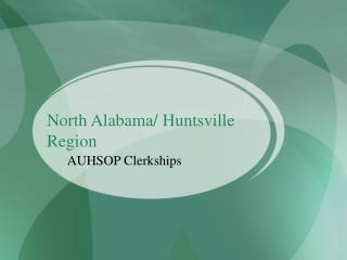North Alabama/ Huntsville Region