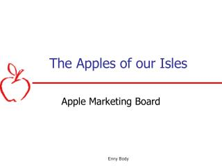 The Apples of our Isles