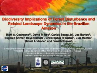 Biodiversity Implications of Forest Disturbance and Related Landscape Dynamics in the Brazilian Amazon