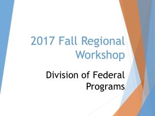 2017 Fall Regional Workshop