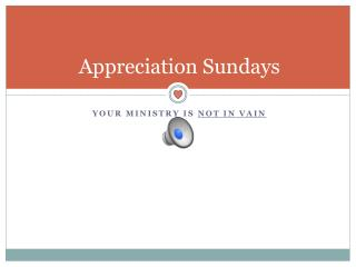 Appreciation Sundays