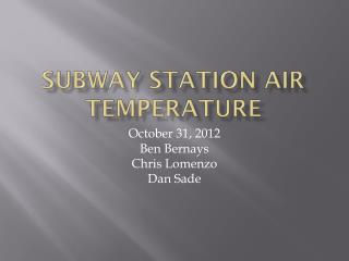 Subway  Station Air Temperature