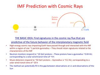 IMF Prediction with Cosmic Rays