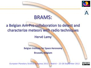 BRAMS:  a Belgian Am-Pro collaboration to detect and characterize meteors with radio techniques