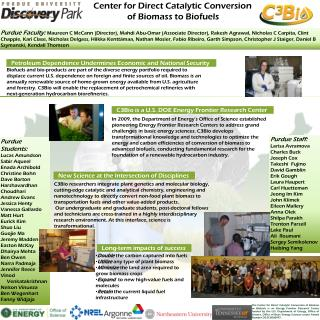 Center for Direct Catalytic Conversion of Biomass to Biofuels