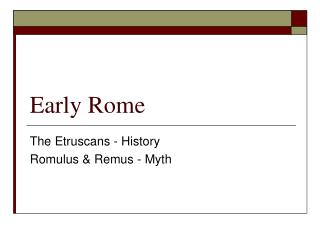 Early Rome