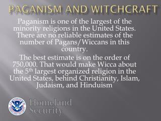 Paganism and witchcraft