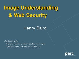Image Understanding     Web Security