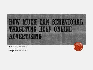How much can Behavioral Targeting Help Online  Advertising
