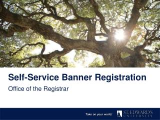 Self-Service Banner Registration