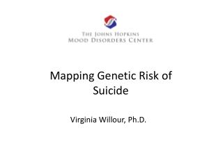 Mapping Genetic Risk of Suicide