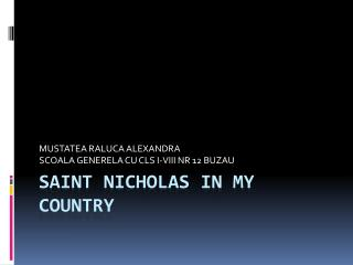 Saint Nicholas in my country