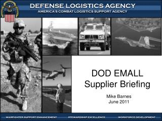 DOD EMALL Supplier Briefing