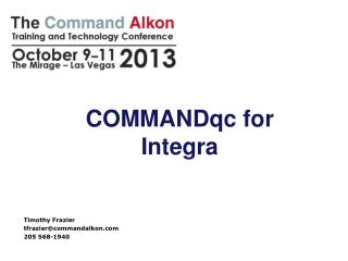 COMMANDqc for Integra