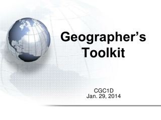 Geographer s Toolkit
