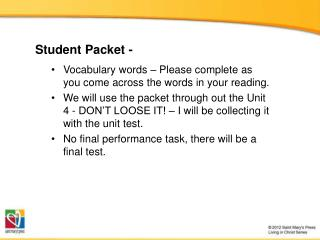 Student Packet -