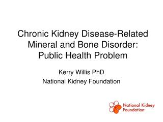 Chronic Kidney Disease-Related Mineral and Bone Disorder: Public Health Problem