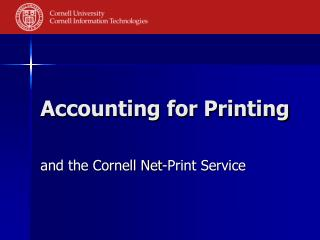 Accounting for Printing