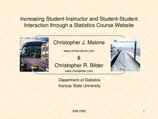Increasing Student-Instructor and Student-Student Interaction through a Statistics Course Website