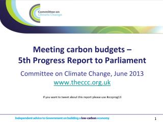 Meeting carbon budgets – 5th Progress Report to Parliament