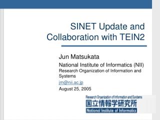 NISN Project Update