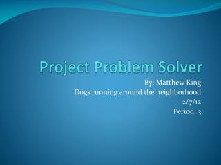 Project Problem Solver