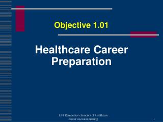 Healthcare Career  P reparation