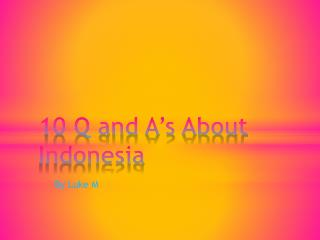 10 Q and A's About Indonesia