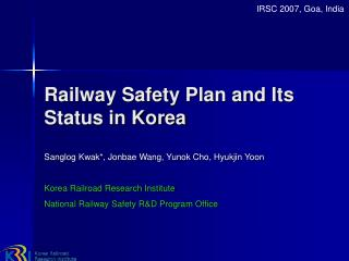 Railway Safety Plan and Its Status in Korea
