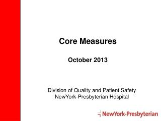 Core Measures October 2013