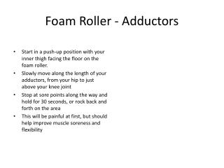 Foam Roller - Adductor s