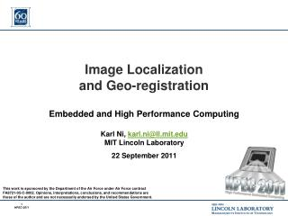 Image Localization and Geo-registration