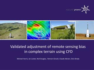 Validated adjustment of remote sensing bias  in complex terrain using CFD