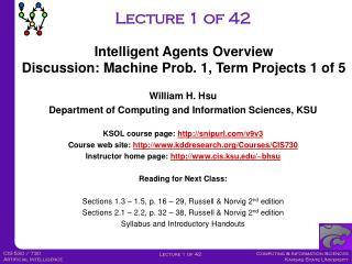 Lecture 1 of 42