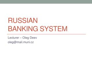Russian  Banking system