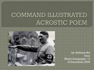 COMMAND ILLUSTRATED ACROSTIC POEM