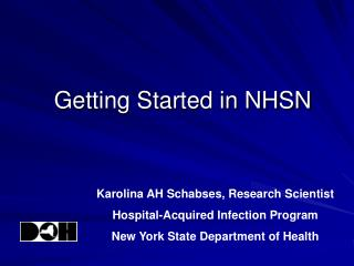 Getting Started in NHSN