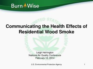 Communicating the Health Effects of Residential Wood Smoke