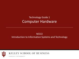 Technology Guide 1 Computer Hardware