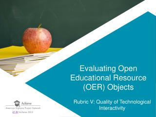 Evaluating Open Educational Resource (OER) Objects