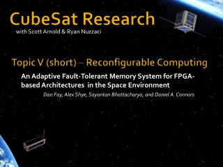 CubeSat Research