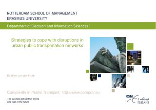Strategies to cope with disruptions in urban public transportation networks