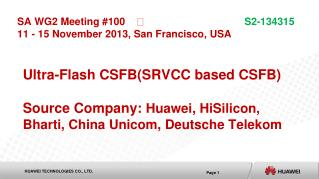 Ultra-Flash CSFB(SRVCC based CSFB)