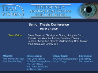 Senior Thesis Conference