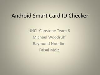 Android Smart Card ID Checker