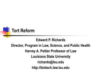 Tort Reform