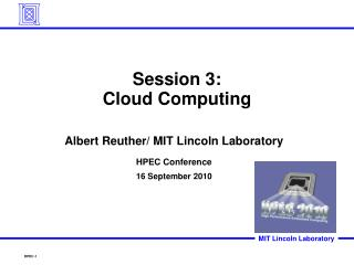 Session 3 : Cloud Computing